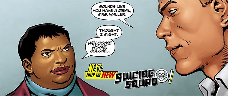 Amanda Waller dealing with Rick Flag