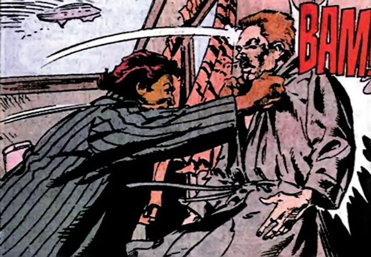 Amanda Waller manhandles the Thinker