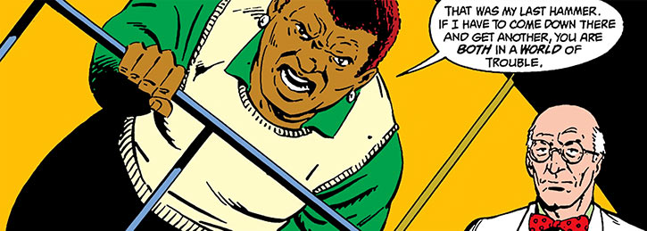 Amanda Waller throwing hammers