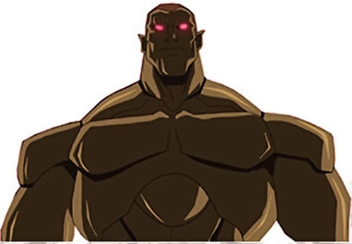 Amazo (Young Justice animated series) glowing red eyes