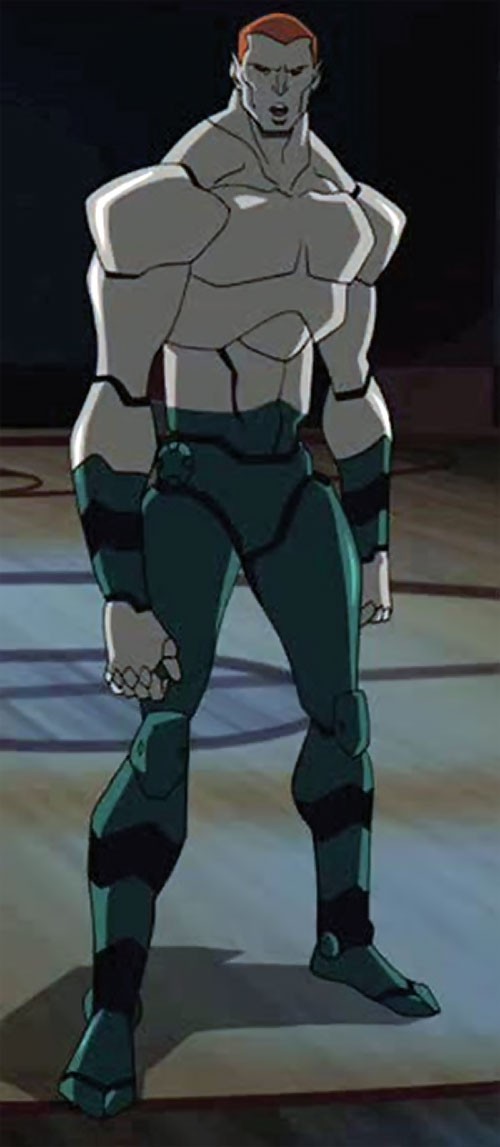 Amazo (Young Justice animated series) standing on a court