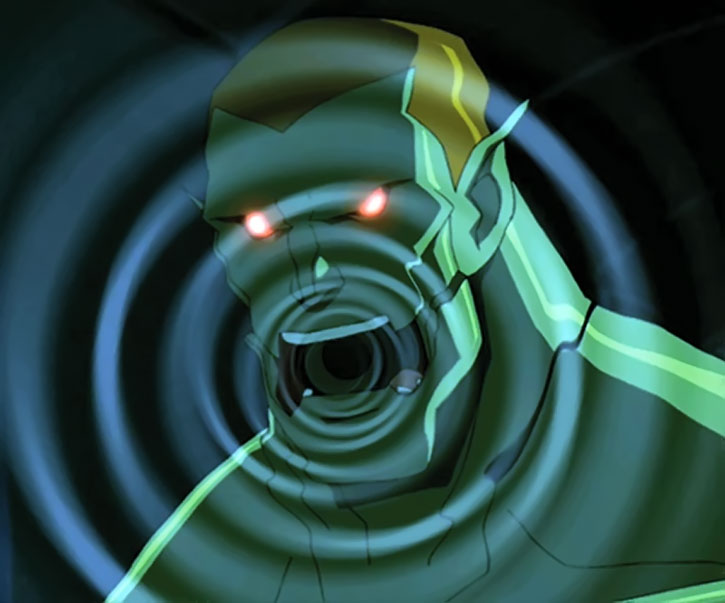 Amazo (Young Justice animated version) using Black Canary's cry
