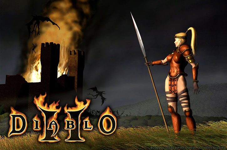 The Amazon from Diablo II with her spear