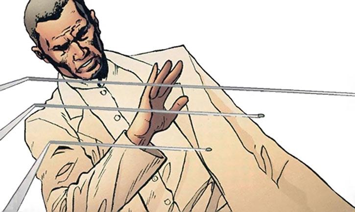 Ambrose Chase deflecting bullets