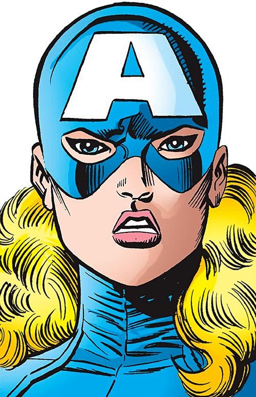 American Dream (Marvel Comics MC2) portrait face closeup