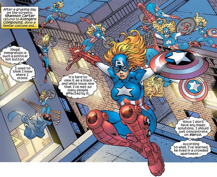 American Dream (Marvel Comics MC2) rooftop acrobatics
