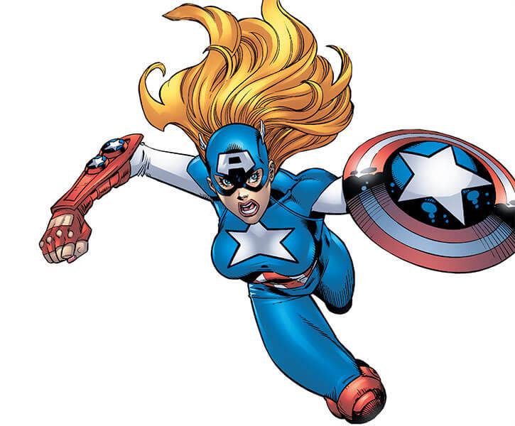 American Dream (Marvel Comics MC2) leaps in