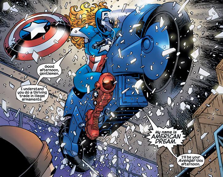 American Dream (Marvel Comics MC2) bike motorbike crashing stunt