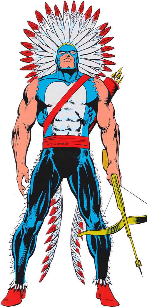 American Eagle (Marvel Comics) in his 1980s costume