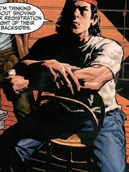 American Eagle (Marvel Comics) in his civvies