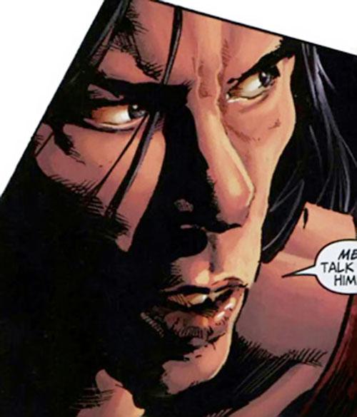 American Eagle (Marvel Comics) face closeup