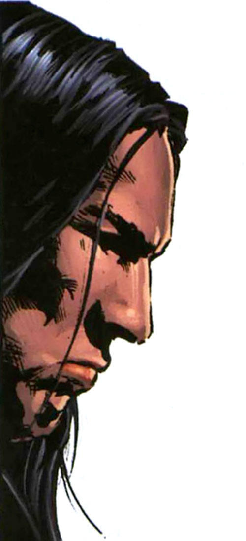 American Eagle (Marvel Comics) face, side view