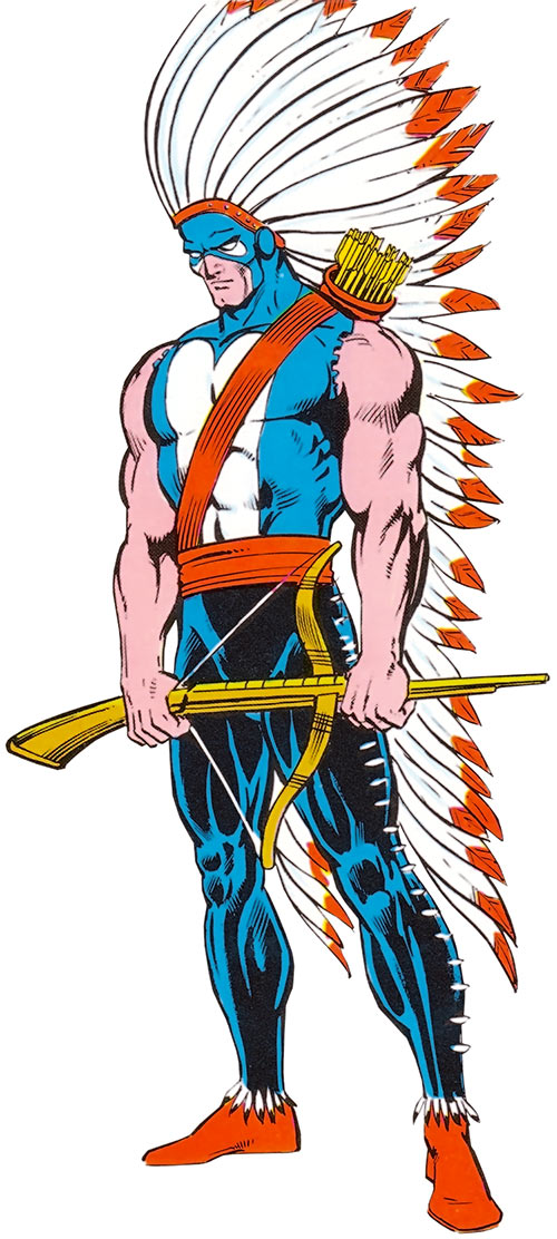 American Eagle (Marvel Comics) with the Village People outfit