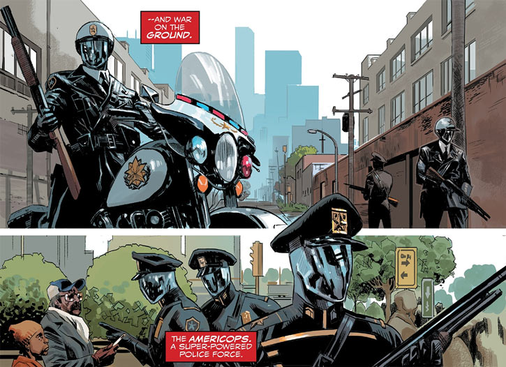 Americop private police force in Captain America - Sam Wilson