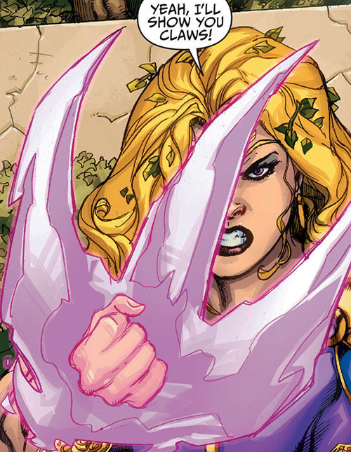 Amethyst (DC Comics New52) creating crystal claws