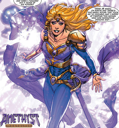 Amethyst (DC Comics New52) teleporting in