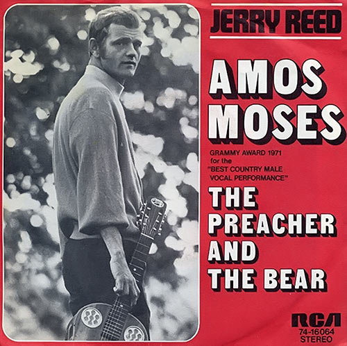 Jerry Reed - Amos Moses vinyl LP cover - The preacher and the bear - 1971