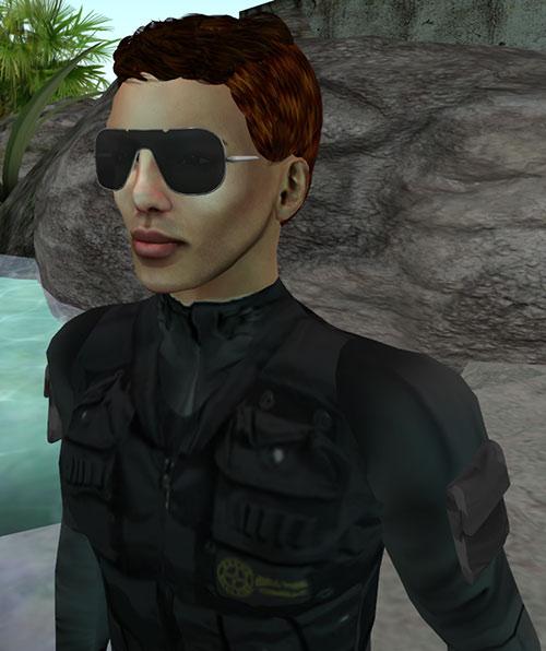 Amp (DC Heroes RPG) closeup sunglasses