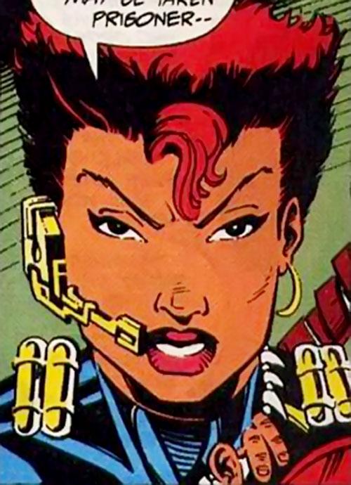 Amy Chen (Silver Sable ally) (Marvel Comics) face closeup