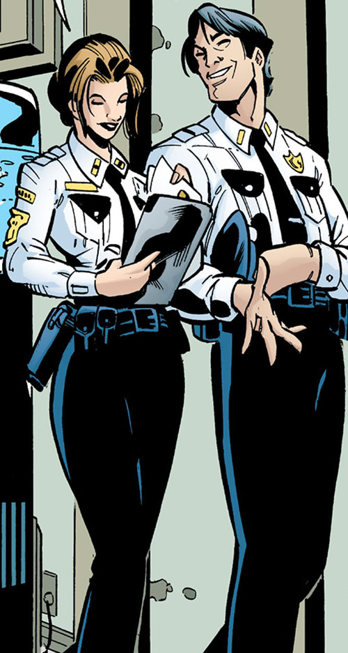Amy Rohrbach (Nightwing character) (DC Comics) and Dick Grayson in uniform