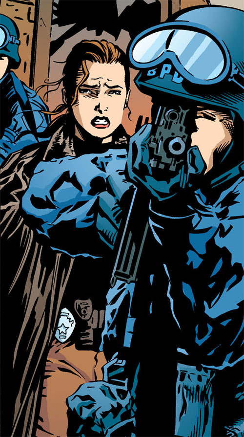 Amy Rohrbach (Nightwing character) (DC Comics) and SWAT officers