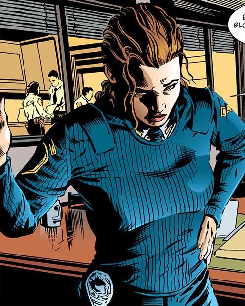 Amy Rohrbach (Nightwing character) (DC Comics) in a dark blue pullover