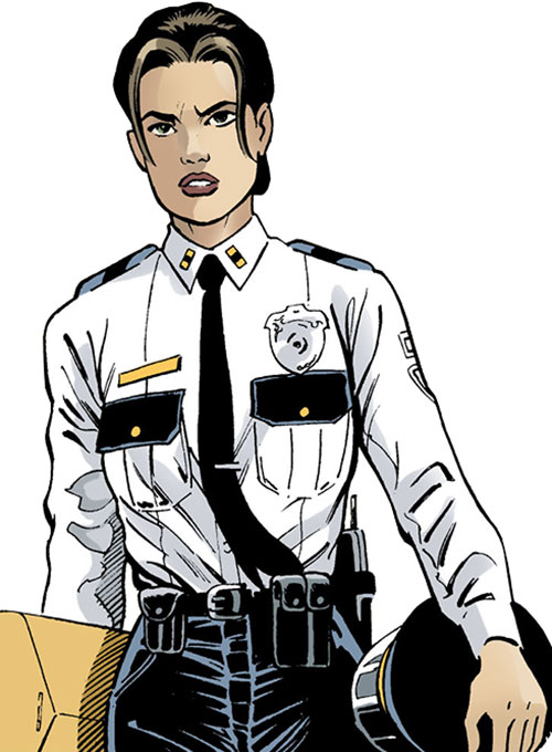 Amy Rohrbach  (Nightwing character) (DC Comics) in a black and white police uniform