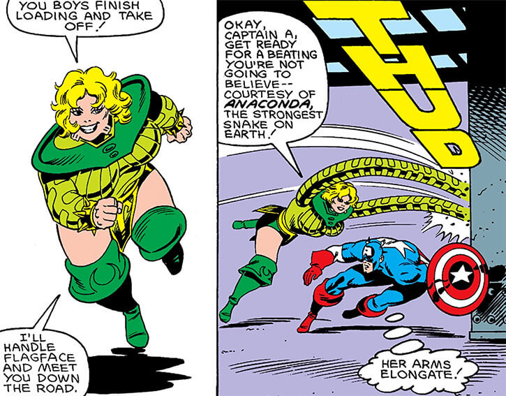 Anaconda vs. Captain America
