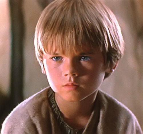 Anakin Skywalker (Jake Lloyd in Star Wars episode 1) face closeup