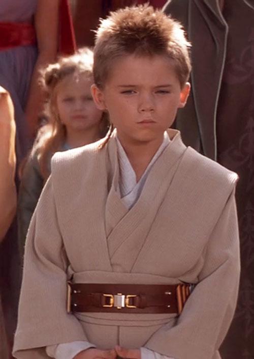 Anakin Skywalker (Jake Lloyd in Star Wars episode 1) waiting