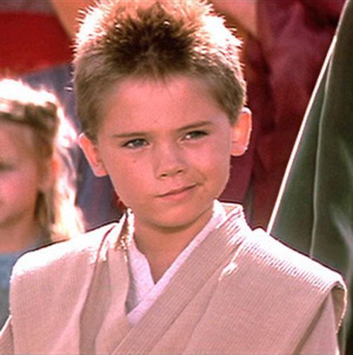 Anakin Skywalker (Jake Lloyd in Star Wars episode 1) smirking
