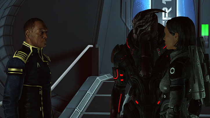 Captain Anderson, Nihlus Kryik and Commander Shepard
