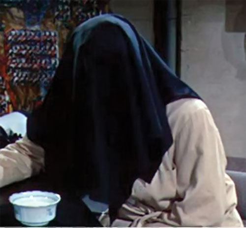 The Fly (Al Hedison in the original movie) with a bowl of food
