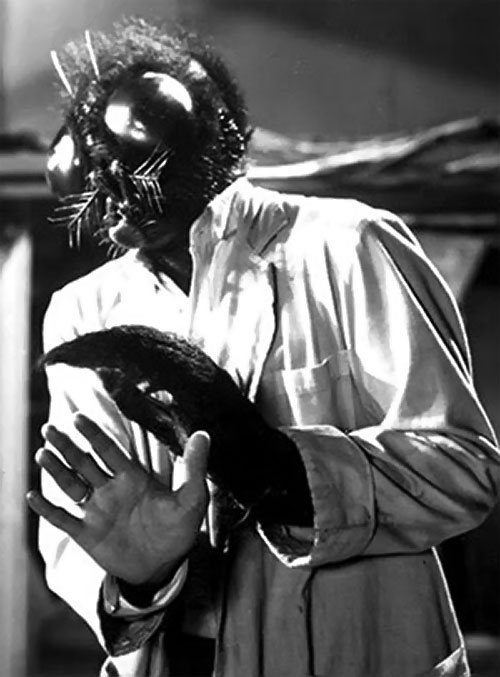 The Fly (Al Hedison in the original movie) as an hybrid, reoiling