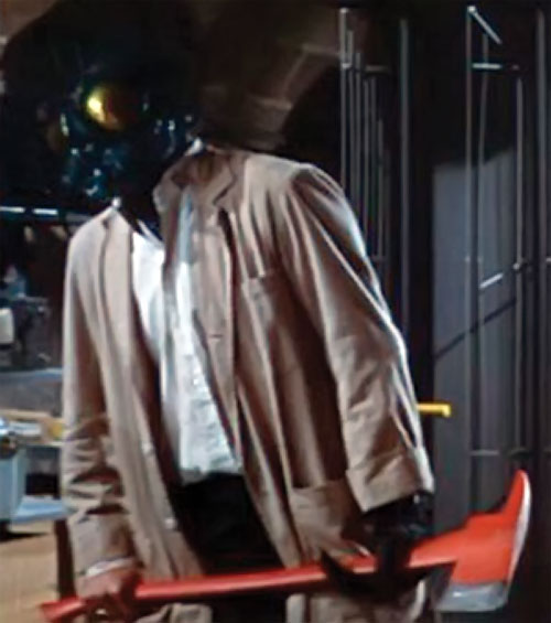 The Fly (Al Hedison in the original movie) as a merger, holding a fire axe