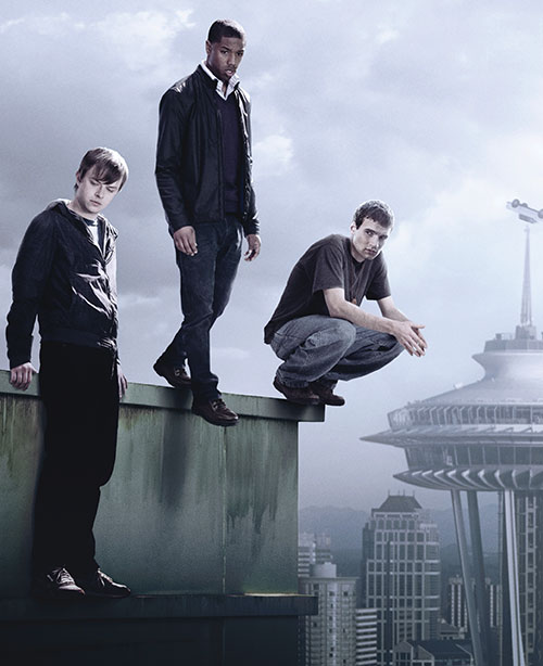 Andrew Detmer (Dane DeHaan in Chronicle) with his friends atop a tower