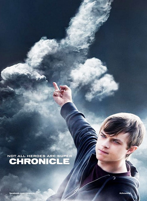 Andrew Detmer (Dane DeHaan in Chronicle) shaping clouds to give the finger