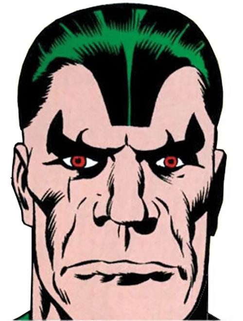Android Man (Marvel Comics) face closeup