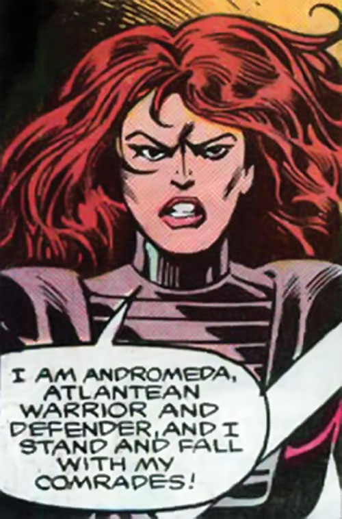 Andromeda Attumasen (Marvel Comics) with pink skin