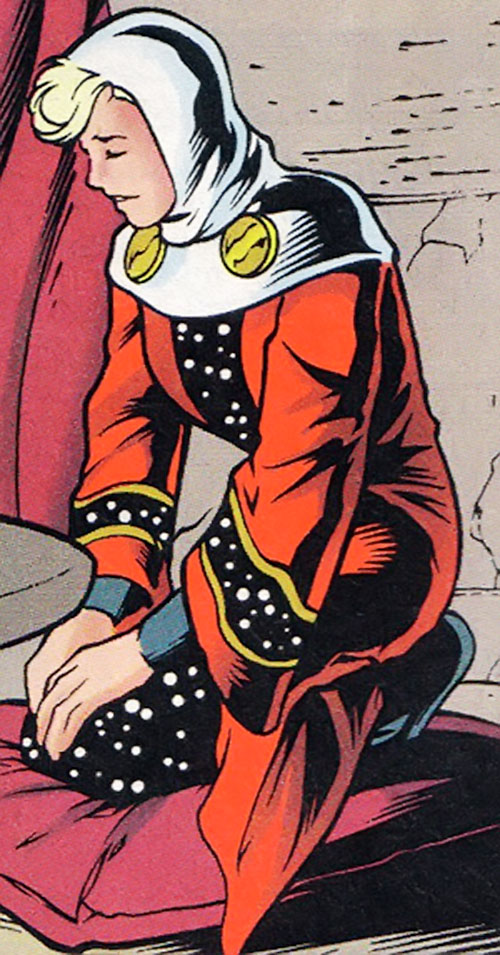 Andromeda (Legion of Super-Heroes) in nun attire