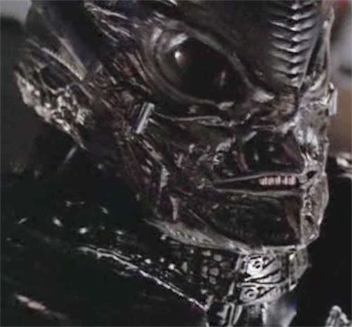 Interdimensional alien in the Andromeda TV show - face closeup