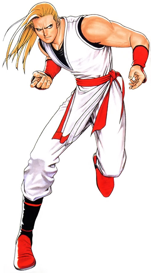 Andy Bogard (Fatal Fury / King of Fighters) in red and white