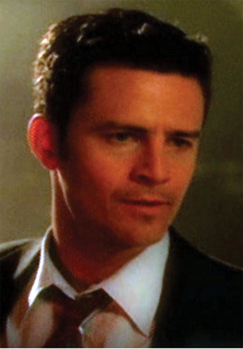 Andy Trudeaux (Ted King in Charmed) face closeup with dark suit