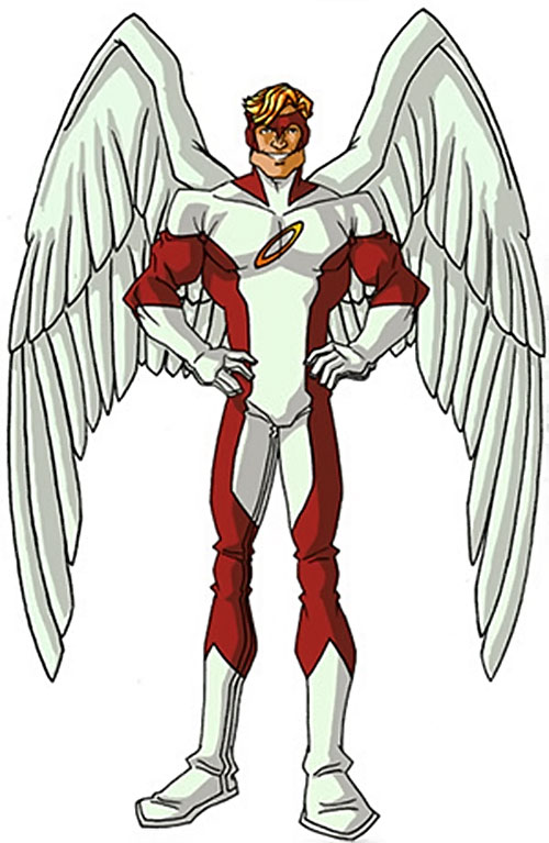 Angel (X-Men) (Marvel Comics) classic costumes by RonnieThunderbolts 3/6