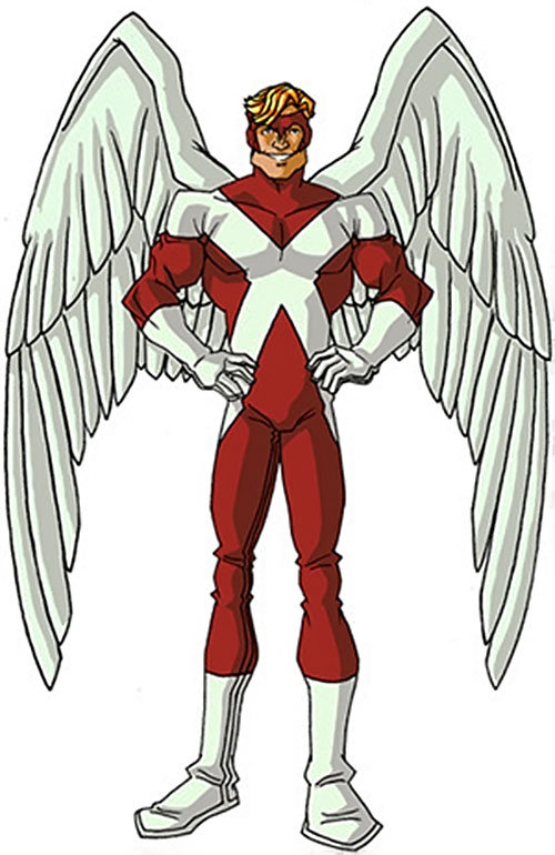 Angel (X-Men) (Marvel Comics) classic costumes by RonnieThunderbolts 6/6