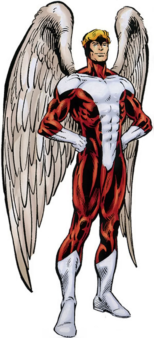 Angel (X-Men) (Marvel Comics) classic costume (red and white)