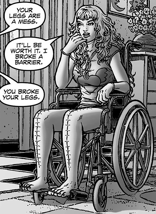 Angel One (Black Summer) (Avatar Comics) flashback in wheelchair