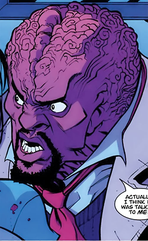 Angstrom Levy (Invincible enemy) (Image Comics) violet head closeup