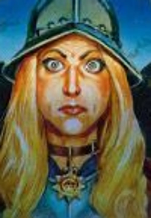 Angua von Uberwald (Pratchett's Discworld Watch) face closeup