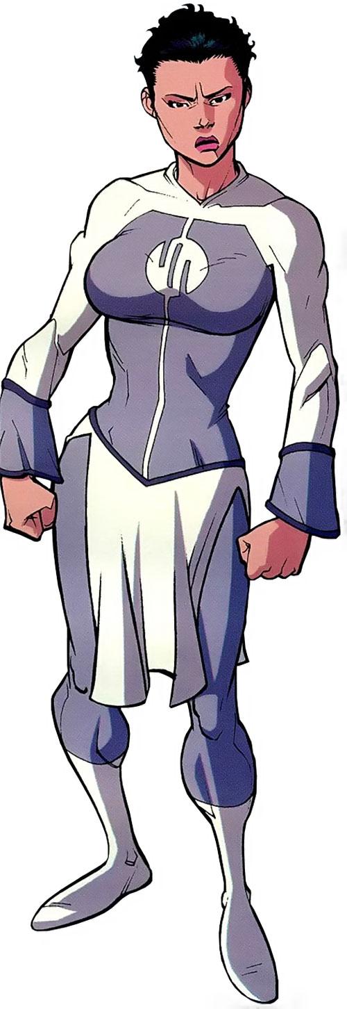 Anissa of the Viltrumites (Invincible comics) gray uniform